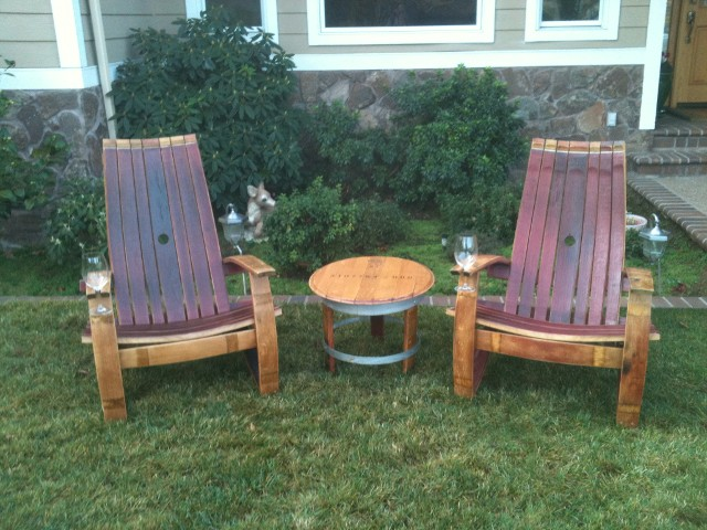 barrel garden furniture
